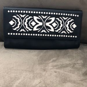 Vera Bradley faux leather clutch